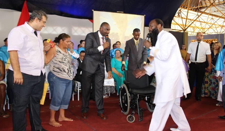 Crippled Woman Gets Up & Walks